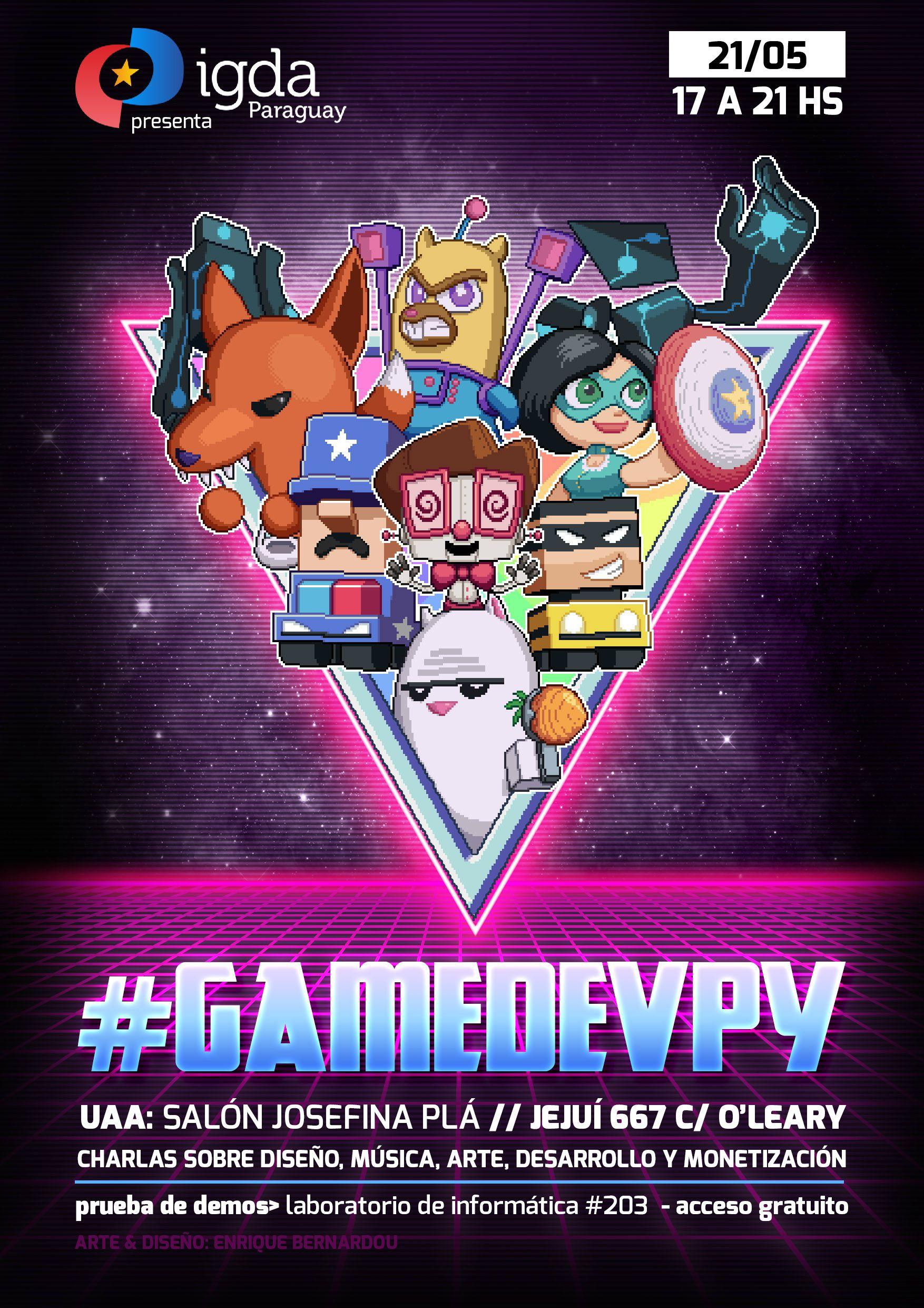 Poster IGDA GAMEDEV PY